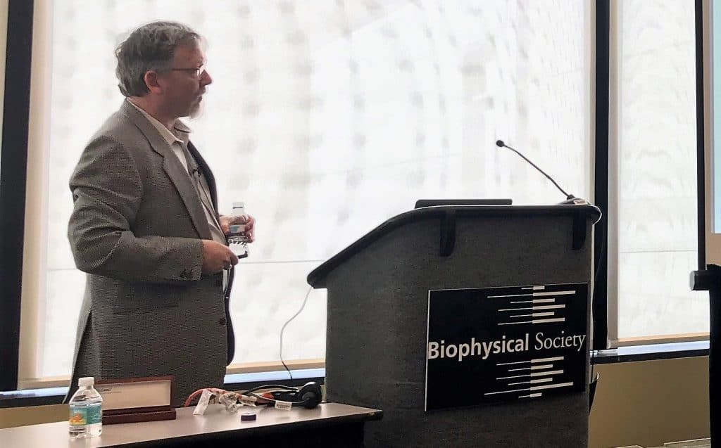 Biophysics 2019 Marc presenting at Sophion meeitng e1566992758504
