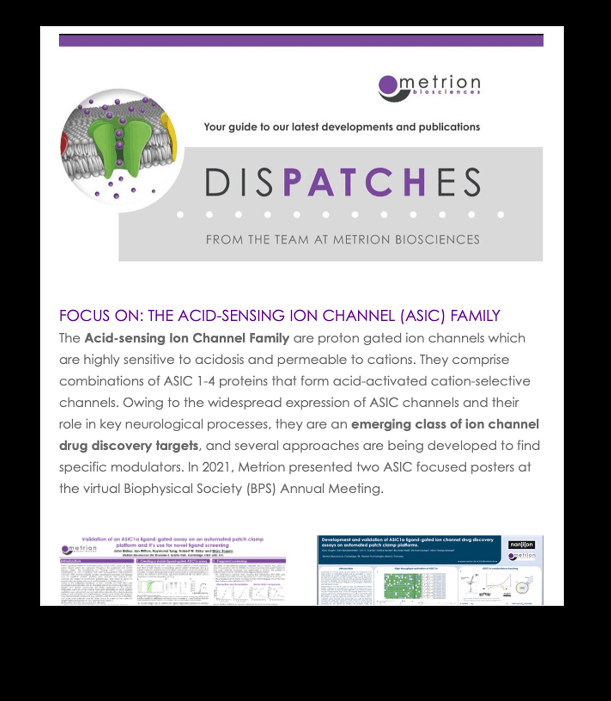 Metrion Biosciences DisPATCHes Newsletter