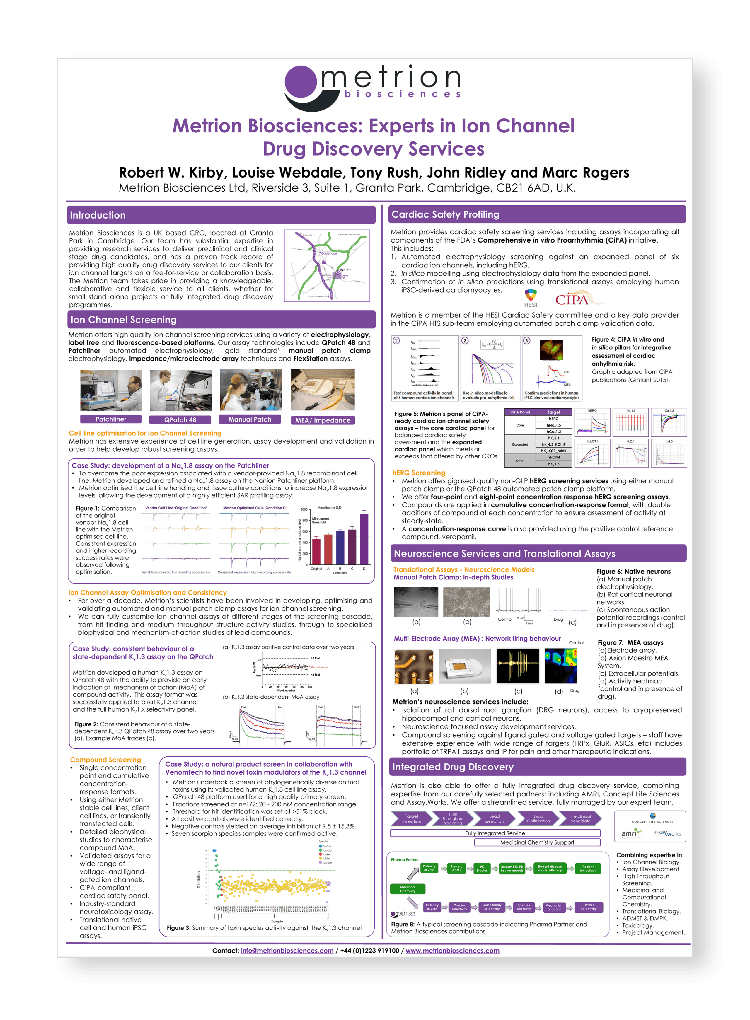 Service Overview Poster Milner Therapeutics Symposium FINAL
